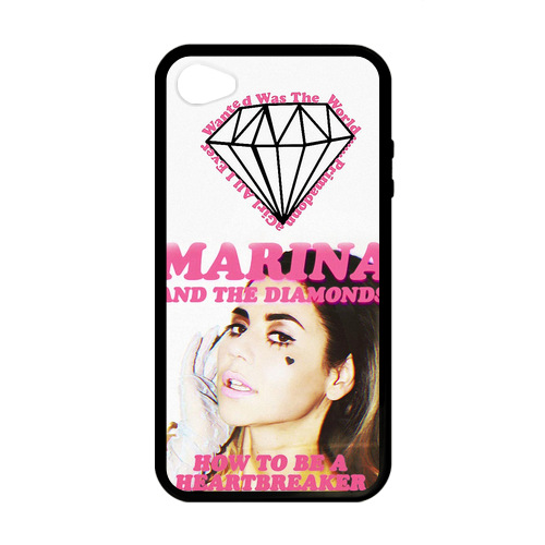 Marina and the Diamonds A Heartbreaker Case for iPhone 4/4s Phone Case Websites(China (Mainland))