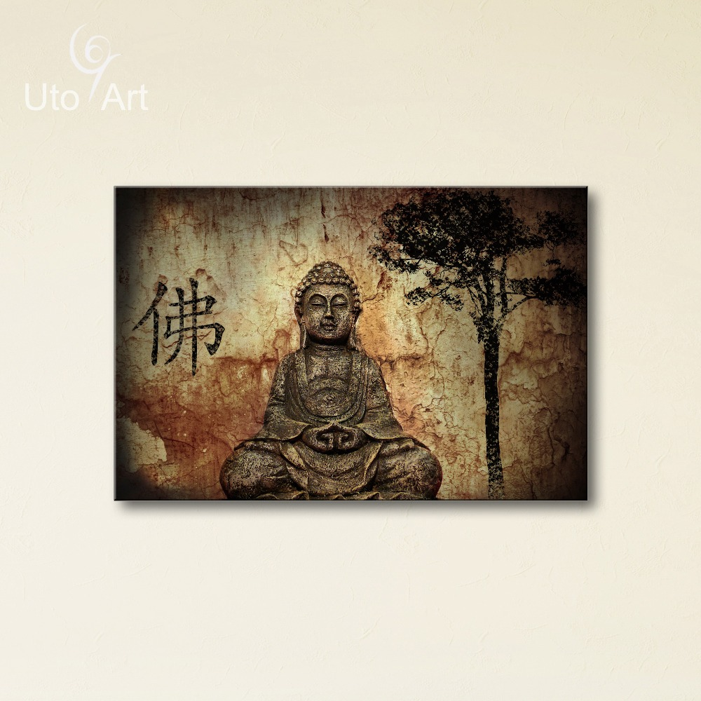 Wholesale canvas art modern printed buddha painting for Cheap prints and posters