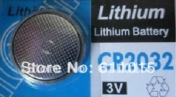 bicycle stopwatch Lithium Battery CR2032 CR 2032 3v Cell Button Coin Battery wholesale 50 pcs