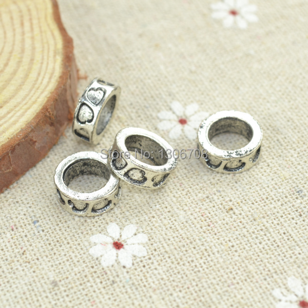 wholesale 70pcs/lots Antique silver big hole charms loose beads for European bracelets making diy jewelry findings z42391(China (Mainland))