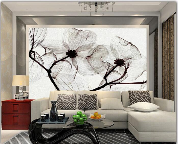 3d wallpaper custom mural non woven 3d room wallpaper for Black wall mural