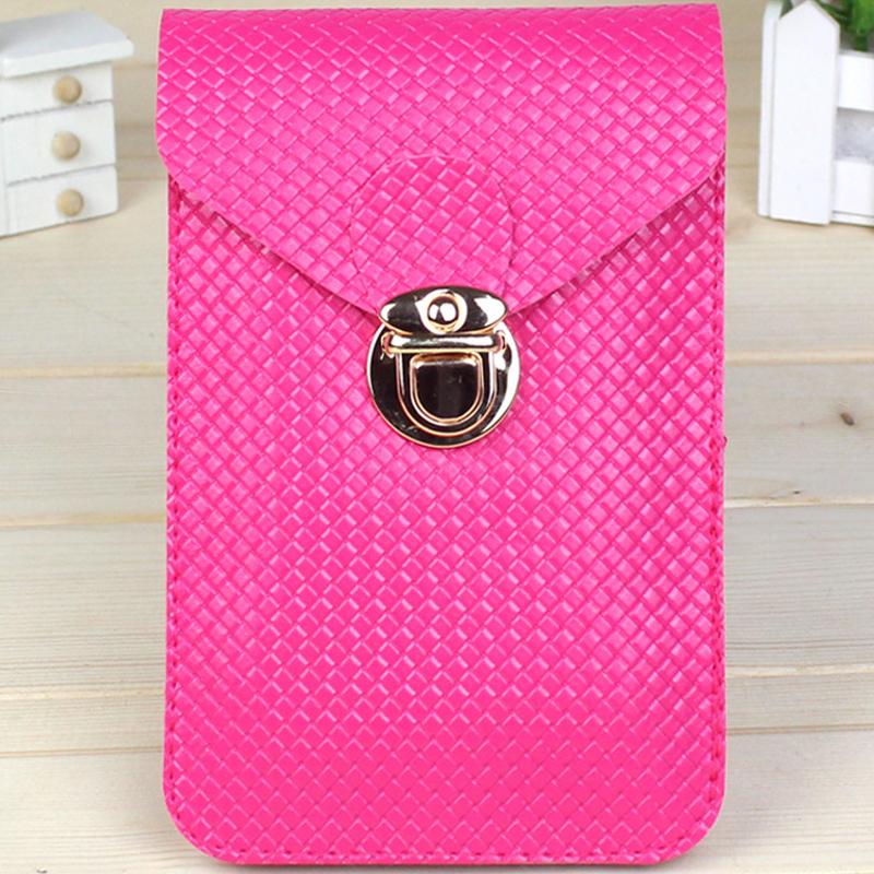 2015 мода женщин сумки кошельки и держатели для монет 9 цветов искусственная кожа мобильный телефон кроссбоди pcs/bag * 35
