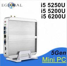 Broadwell Intel Core i5 5200U Fanless Mini PC Linux Windows 10 Max 2.7GHz Graphics Iris 5500 HTPC 300M Wifi 2 HDMI 4K HD TV Box(China (Mainland))