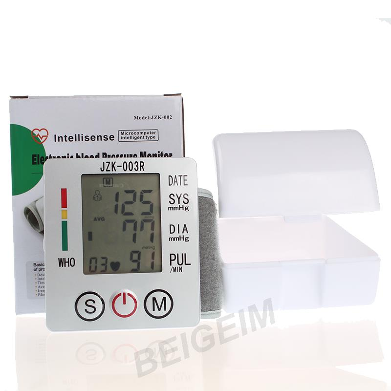 Wrist Blood Pressure Meter Sphygmomanometer Cuff Blood Pressure Tonometer Health Monitor 2016 New(China (Mainland))