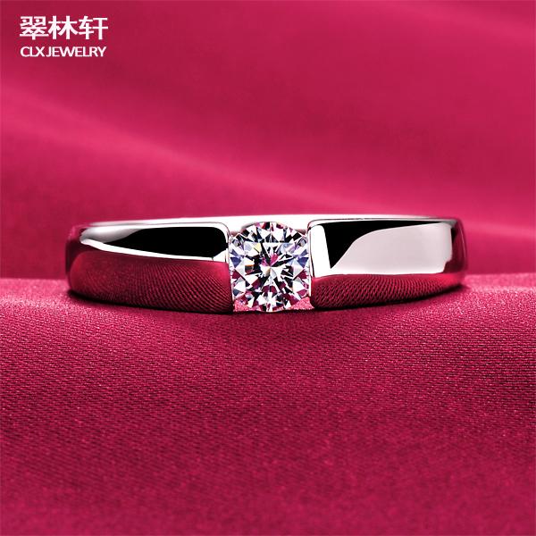 Aliexpress Buy ESCVD Diamond Jewelry 039 Carat Simulation Diamond Ring High End Men