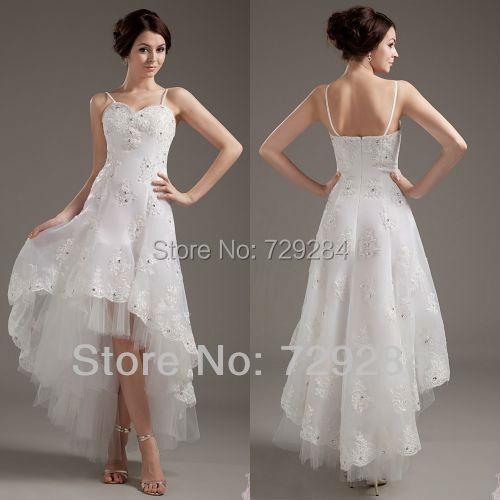 Sweetheart zipper closure diamonds a line applique for Wedding dresses asymmetrical hemline