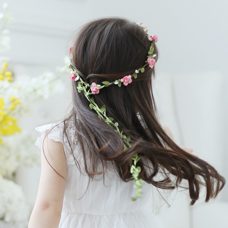accesorios para el pelo Women Fashion Boho Flower Headband Girl Wedding Floral Garland Hair Accessories Girls(China (Mainland))