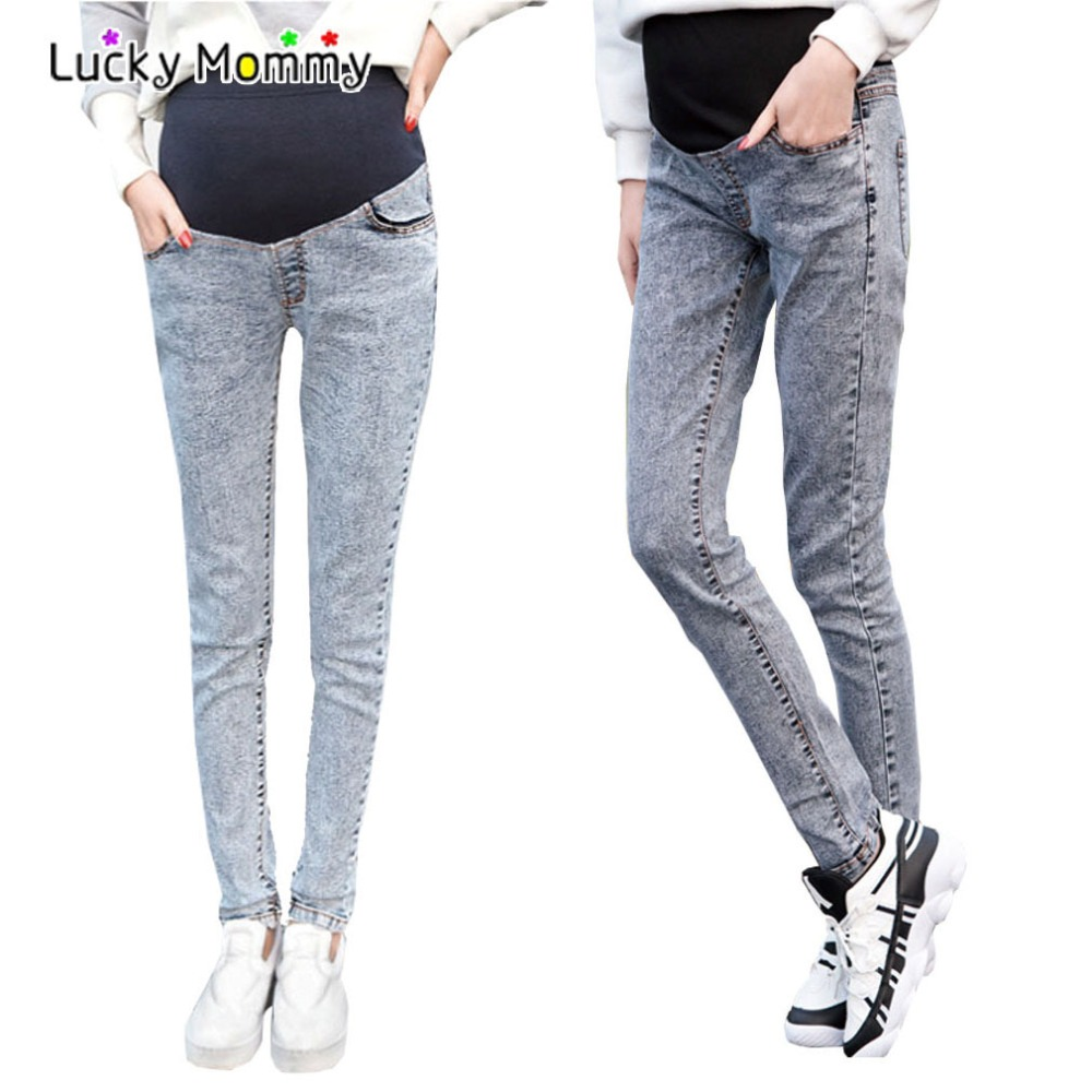 Personality Maternity Jeans Skinny Maternity Pants for Pregnant Women Summer Pregnancy Pants Elastic Waist Pregnant Trousers<br><br>Aliexpress
