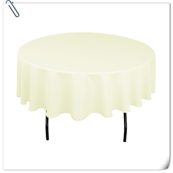 """Big Discount !!!! 120"""" Round Polyester 10pcs Ivory Table Cloth For Wedding &Party &Resturant Decoration FREE SHIPPING(China (Mainland))"""