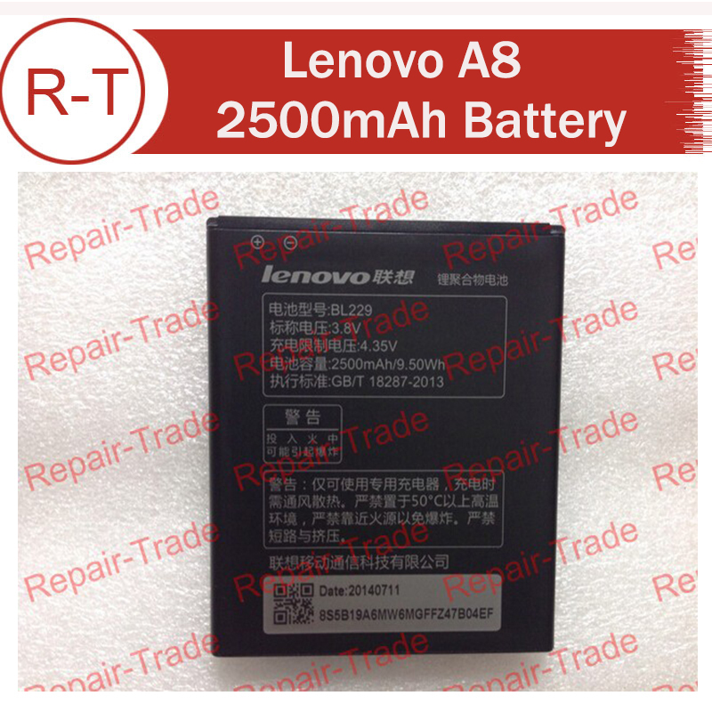 Lenovo A8 battery A806 A808t Original 2500mah BL229 large capacity Li-on Battery in stock now with tracking number
