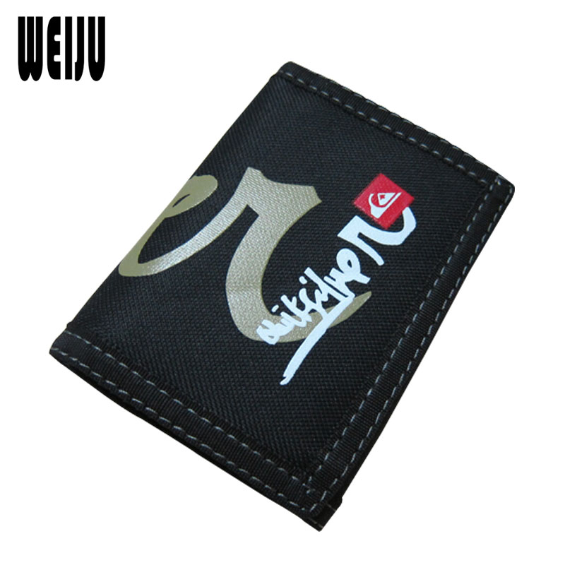 New 2016 Men Wallets Carteira Creative Writing Graffiti Wallets Student Sport Purse Folded Canvas Casual Short Wallet(China (Mainland))