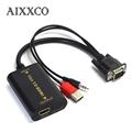AIXXCO Quality Portable Plug and play VGA To HDMI Output 1080P HD Audio TV AV HDTV