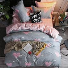 Solstice Mixed Color Cartoon Style Fox/snowflakes/animal Plants 4pcs Bedding Sets Bed Sheet Duvet Cover Pillowcase Bedclothes(China)