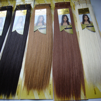 4Pieces Janet CollectionENCORE Without Retail Box Naked1,1B,2,4,27,30,613# True Hair Mix Futura Fiber Yaki Straight Blended Hair