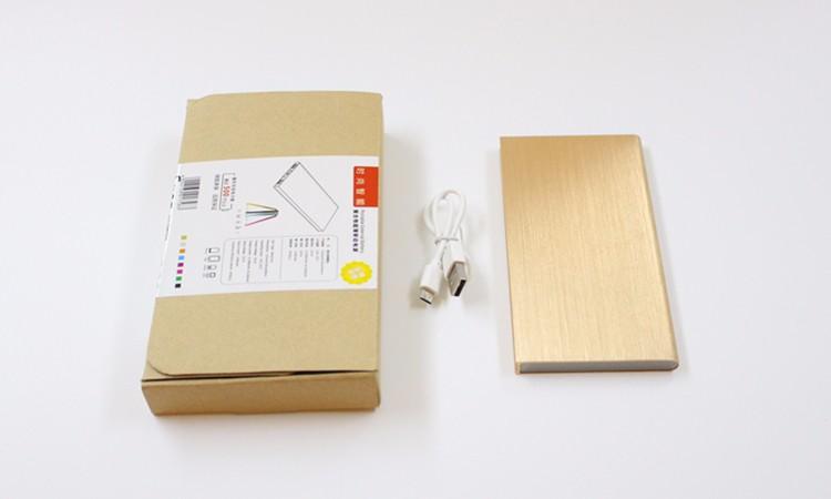 2015 New Fashion Polymer Ultrathin Power bank 100% Real Capacity 10000mah Powerbank Dual USB External Battery For iPhone XiaoMi