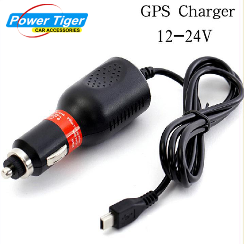 DC 12/24V TO AC 5V/1.5A Mini USB Car Charger For Car GPS Vehicle Cigarette Lighter Adapter With 1.2m USB Cable Free Shipping(China (Mainland))