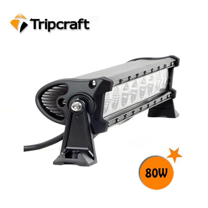 Фотография 18inch 80W led light bar 10W each cree chip led work light spot flood beam 6800lumens TC-02980B