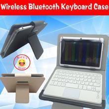 For CHUWI Vi7 Wireless Bluetooth Keyboard Case For Chuwi VI7 3G Phone Call tablet Bluetooth Keyboard Case free screen protector