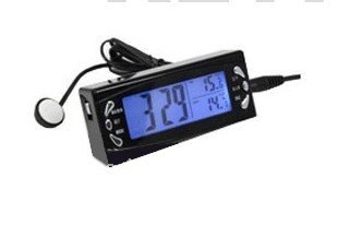 LCD DC 12V Digital Alarm Clock Car Thermometer Temperature Display
