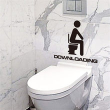 Pegatina de baño nueva venta creativa impermeable pegatina de pared de baño puede quitar pegatinas hogar Decl Muraux para Enfant Chambre 2017(China)