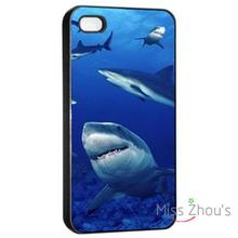 For iphone 4/4s 5/5s 5c SE 6/6s plus ipod touch 4/5/6 back skins mobile cellphone cases cover Shark Night