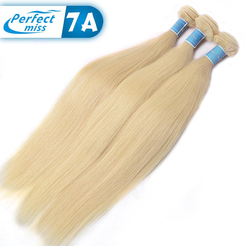 Blonde Virgin Hair 3pcs Wholesale 100% Unprocessed Virgin Straight Brazilian Hair High Quality 613 Blonde Virgin Hair Extensions(China (Mainland))