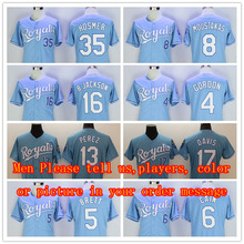 Royals Jersey 16 bo jackson jersey 35 Eric Hosmer 4 Alex Gordon 8 Moustakas 13 Salvador Perez Men women Kids Throwback baseball(China (Mainland))
