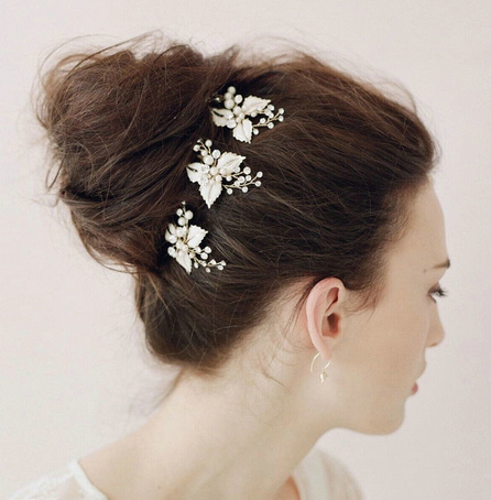 wholesale wedding bridal hair accessories flower clear