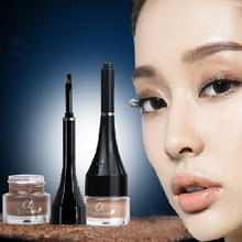 Waterproof Brand New Eyebrow Cream Mascara Gel Make Up Cream Eye Brow Long-lasting Natural 4 Color Makeup Enhancer With Brush(China (Mainland))