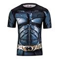 2016Gym Compression Shirt Superman Captain America Punisher Iron man 3D Print T Shirt Superhero Crossfit Mens