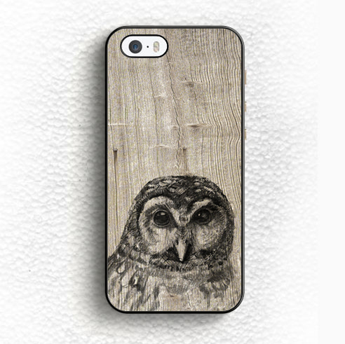Cute Owl Sketch Tan Wood Print On Soft TPU Skin Mobile Phone Cases For iPhone 6 6S Plus 5 5S 5C SE 4 4S Back Shell Case Cover(China (Mainland))