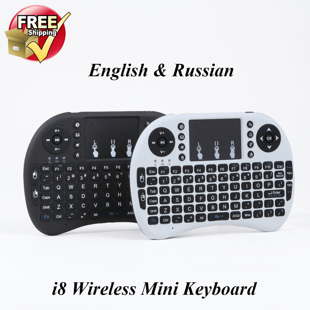 Hot Sale 2.4G Mini i8 Wireless Keyboard Touchpad for Tablet PC iPad Mini Google Andriod Smart TV Box Xbox360 PS3 HTPC/IPTV(China (Mainland))