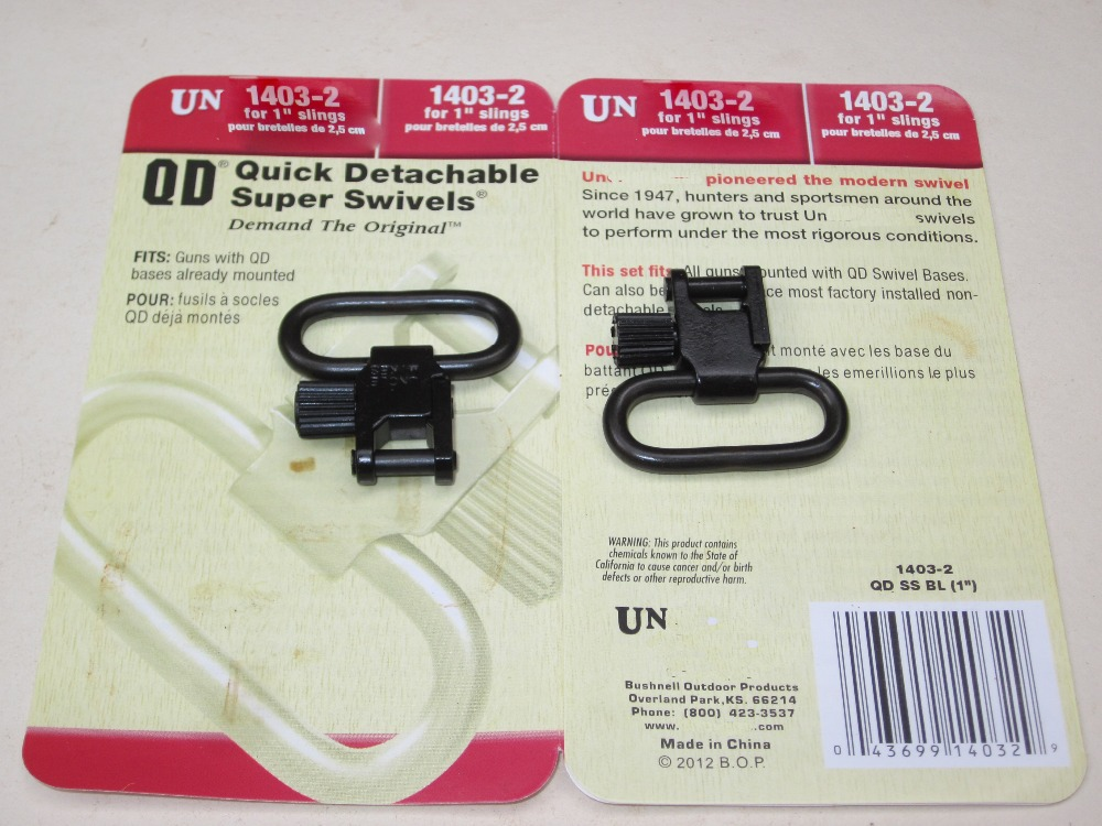 Free shipping Un QD Swivels 1403 2 for 1 Inch Sling hunting Tactical Gun Sling swivels