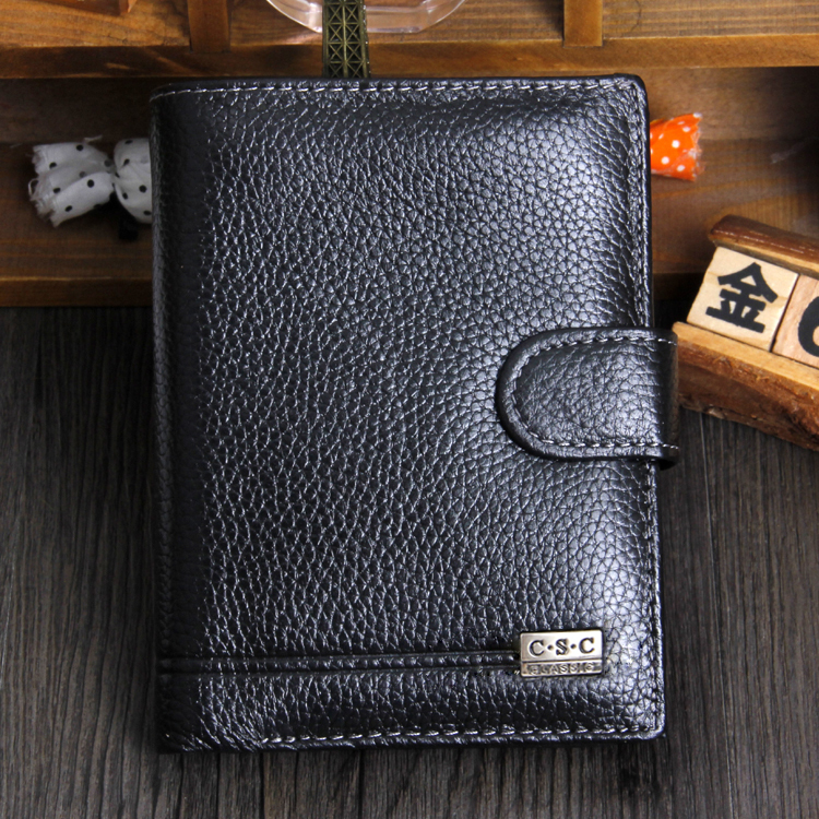 Men Wallets 2015 Fashion Designers Famous Brand 100% Genuine Leather Money Pocket Large Capacity Men Purses Wallet Passcard Bag(China (Mainland))