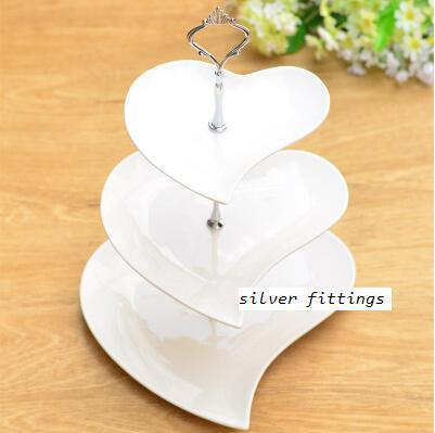 fashion dessert rack mug-up plate ceramic fruit 3 tier cake stand pan tools party supplies - Linda's lovely items store