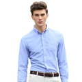 2017 New Arrival Spring Autumn European American Men s Long sleeved Solid Color Shirts With Cultivate