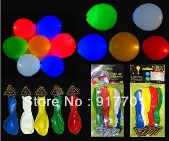 Wholesale Promotional Led Light  Flashing Festival Balloons  For Wedding Free shipping 20Pcs/lot