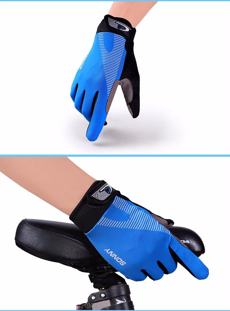 8Glv812 Men\`s sports outdoor cycling long finger gloves antiskid touch-screen thin motorcycle gloves
