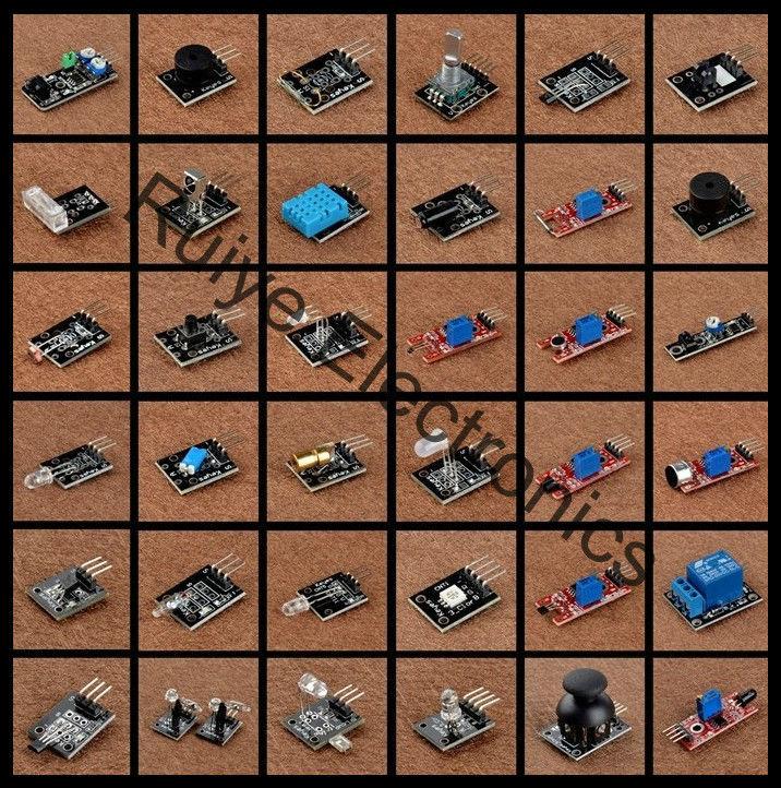 37 1 box Sensor Kit Arduino Starters stock good quality low price Plastic Box Packing - Ruiye Electronics store