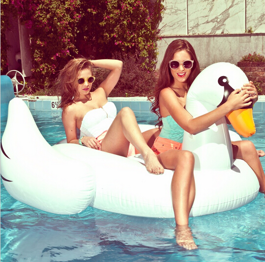 Inflatable Flamingo Pool Float Giant Swan 60inch 1.5M Inflatable Swimming Pool Ring Toys for Adult flotadores para piscina(China (Mainland))