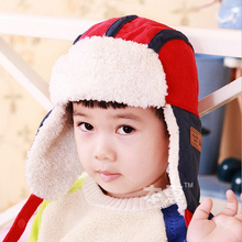 2015 New Candy spell color Children Fur Hats baby boy Winter wool Hat with villi inner Kids Earflap Cap FOR 2-8 Years Old(China (Mainland))