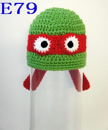 80pcs Crochet Baby Ninja Turtle Hat Newborn Photo prop Free shipping<br><br>Aliexpress