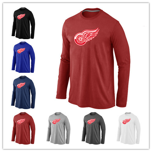 Cheap Men 39 S Detroit Red Wings Hockey T Shirts Long Sleeve