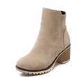Autumn Rough Female Thick Heel side Zipper Boots Plus Size Genuine Nubuck Leather Women s Ankle
