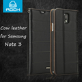 Original ROCK Elite Genuine leather real cow leather case for Samsung Galaxy Note 3 N9000 Note3