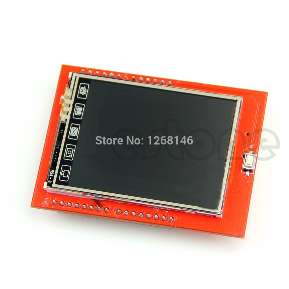"Гаджет  Free Shipping Touch Panel 2.4"" TFT LCD Shield Module TF Reader Micro SD For Arduino UNO R3 None Электронные компоненты и материалы"