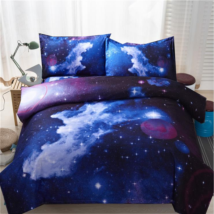 3d Galaxy Duvet Cover Set Single Double Twin Queen 2pcs