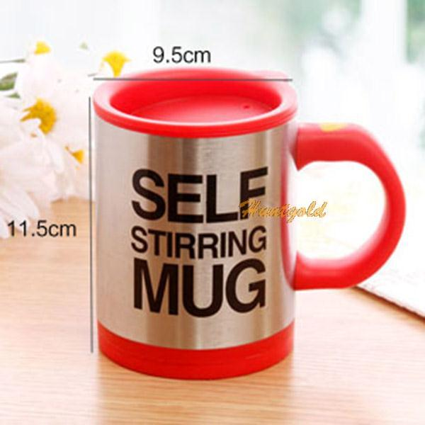 Red 1PC Automatic Electric Lazy Self Stirring Coffee Cup Mugs Electric Tea Dring Mugs