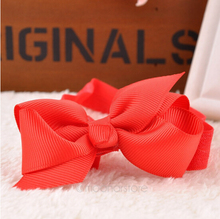 Colorful Soft Headband Kid Bow Headband Hairband Newborn Baby Girl Gift photograph props Random Colors