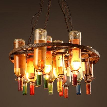 Retro Loft Style Bottle Droplight LED Pendant Light